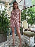 Женский летний комбинезон в горошек без рукава с шортами vN8214, фото 8