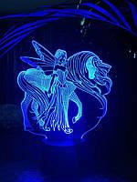 3D светильник 3DTOYSLAMP Эльф и Единорог