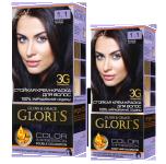 Краска для волос 1.1 иссиня-черный Glori's 50мл