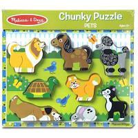 Развивающая игрушка Melissa&Doug Формовой пазл Домашние животные (MD13724)