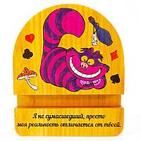 Подставка держатель для мобильного телефона смартфона планшета Чеширский Кот Alice in wonderland