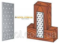 Пластина перфорированная 40х100х2мм металлическая для соединения деревянных конструкций упаковка 200 штук