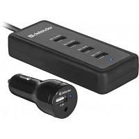Зарядний пристрій Defender ACA-02 авто,5 портів USB, 5V / 9.2 A (83568)
