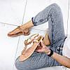 Босоножки женские пудра с декором эко кожа эко замша элегантные, фото 2