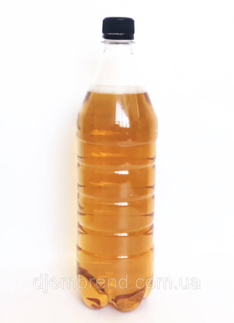 Пэт бутылка 1 л, прозрачная, 150 шт в упаковке, с крышкой