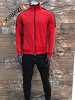 Мужской спортивный костюм Nike красный. Чоловічий спортивний костюм Nike червоний.