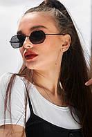 Солнцезащитные черные женские очки-восьмиугольник (1370.4139 svt)