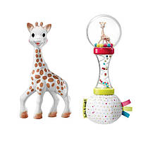 Подарочный набор Sophiesticated (Жираф Софи + погремушка-маракас), Sophie la girafe (Vulli), фото 1