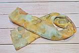 Женский шарф снуд красивый из хлопка легкий на шею и голову Eternity оранжевого цвета, фото 3