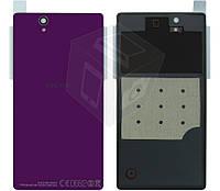 Задняя панель корпуса (крышка) для Sony Xperia Z C6602 L36h, оригинал, фиолетовый