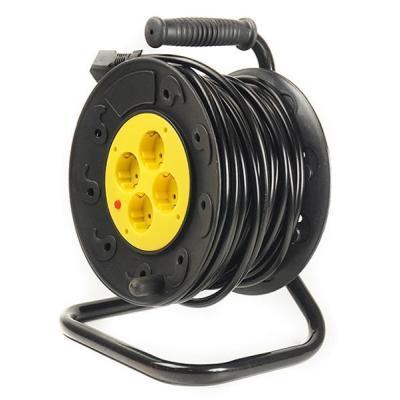 Мережевий подовжувач PowerPlant на котушці 30 м, 4 розетки (JY-2002/30) (PPRA10M300S4)