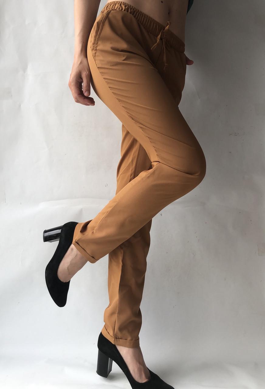 Женские летние штаны, софт №13 БАТАЛ (песок)