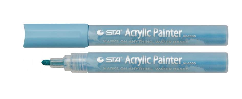 Маркер для мітки маток акриловий STA 1000 2-3 мм водостойкий