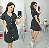 Платье в мелкий горошек летнее женское (ПОШТУЧНО) M/42-44