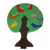 Конструктор nic деревянный Дерево с птицами темное (NIC523098)