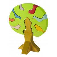 Конструктор nic деревянный Дерево с птицами светлое (NIC523097)