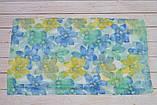 Шарф снуд женский нежный в виде хомута из хлопка легкий на лето Eternity желтый с голубым, фото 2