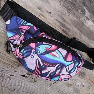 Детская сумка на пояс 29х12 см, фото 2