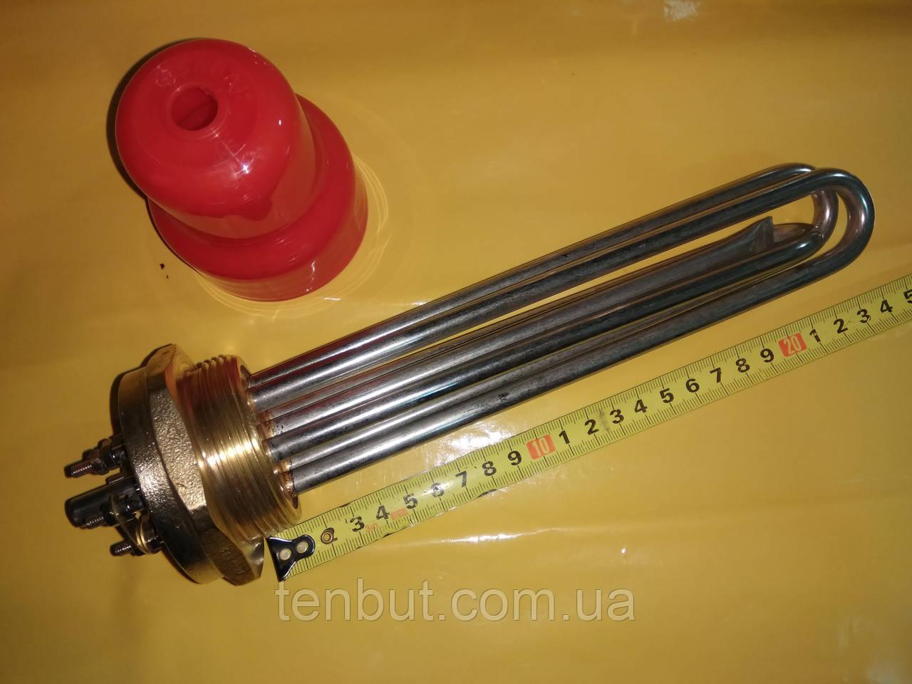 Блок тэн нержавейка 3.0 кВт / 1.5 дюйма резьба / 220 В. / 240 мм. длина . производство Турция SANAL