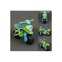 Детский Мотоцикл-каталка МотоБайк Полиция музыкальный Фламинго 0139/52