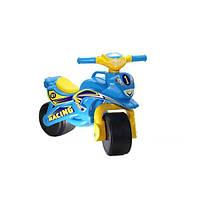 Детский Мотоцикл-каталка МотоБайк Спорт музыкальный Фламинго 0139/1