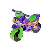 Детский Мотоцикл-каталка МотоБайк Спорт музыкальный Фламинго 0139/6