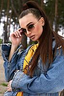 Солнцезащитные коричневые узкие овальные очки (1377.4144 svt)