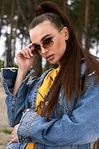 Сонцезахисні коричневі вузькі овальні окуляри (1377.4144 svt)