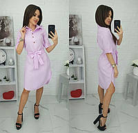 Платье-рубашка однотонное женское (ПОШТУЧНО) M/44