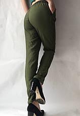 Женские летние штаны, №23 лен жатка темный хаки, фото 3
