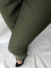Женские летние штаны, №23 лен жатка темный хаки, фото 2