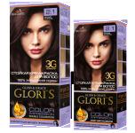 Краска для волос 2.1 черный шоколад Glori's 50мл