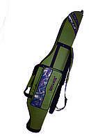Чехол для спиннингов двухсекционный полужесткий 135 см KENT&AVER, фото 1