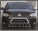 Защита передняя, кенгурятник c надписью для Volkswagen T5 (2010+) (фольксваген Т5)