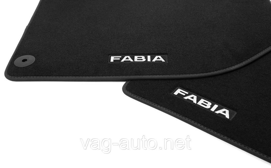 Коврики в салон текстильные полиамид (к-кт) FABIA III