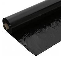 Пленка полиэтиленовая черная, строительная, рукав, 100 мкн, ширина 1500 мм, длина 100 метров погонных