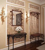 Комплект прихожей вешалка пуф зеркало Tenero Ричмонд Коричневый 1591, КОД: 1555077