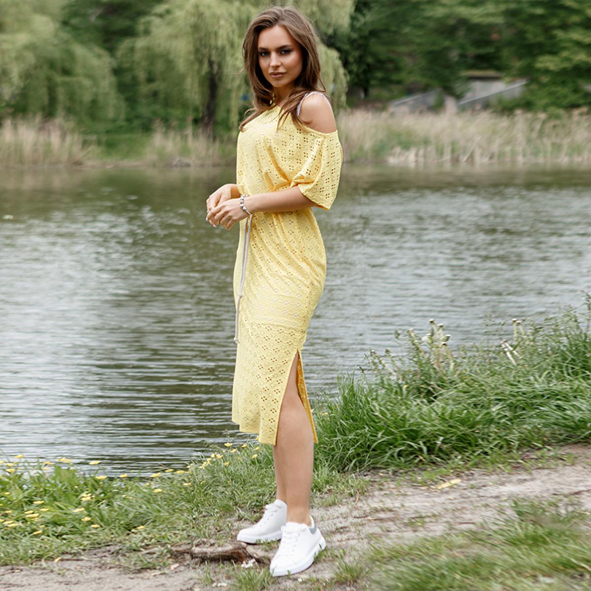 """Модне літнє плаття двійка з поясом """"Еріка"""""""