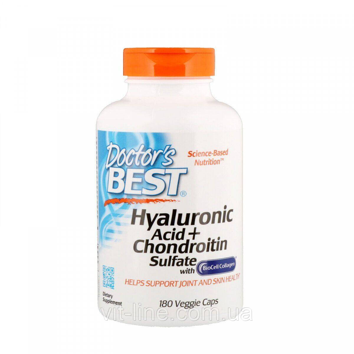 Гиалуроновая кислота с сульфотом хондроитина от Doctor's Best (180 капсул)