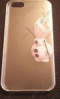 """Чехол iPhone 5/5s Пластиковая панель ,,Олаф Холодное сердце"""" для iPhone Оригинальная панель на телефон"""