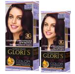 Фарба для волосся 3.6 баклажан Glori's 50мл