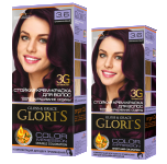Краска для волос 3.6 баклажановый Glori's 50мл