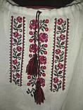 Детская белая вышиванка с красной вышивкой, фото 2