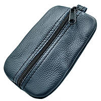 Ключница-кошелёк кожаная Weatro Синий klch-0002, КОД: 1714050