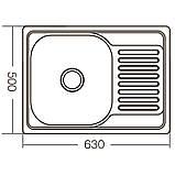 Мойка кухонная ZERIX Z6350-08-180D (decor) (ZM0564), фото 2