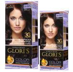 Краска для волос 3.65 темно-каштановый Glori's 50мл