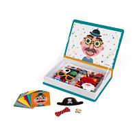 Розвиваюча іграшка Janod Смішні особи - хлопчик (J02716)