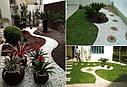 """Бордюр садовий пластиковий """"Кантрі"""" зелений, фото 8"""