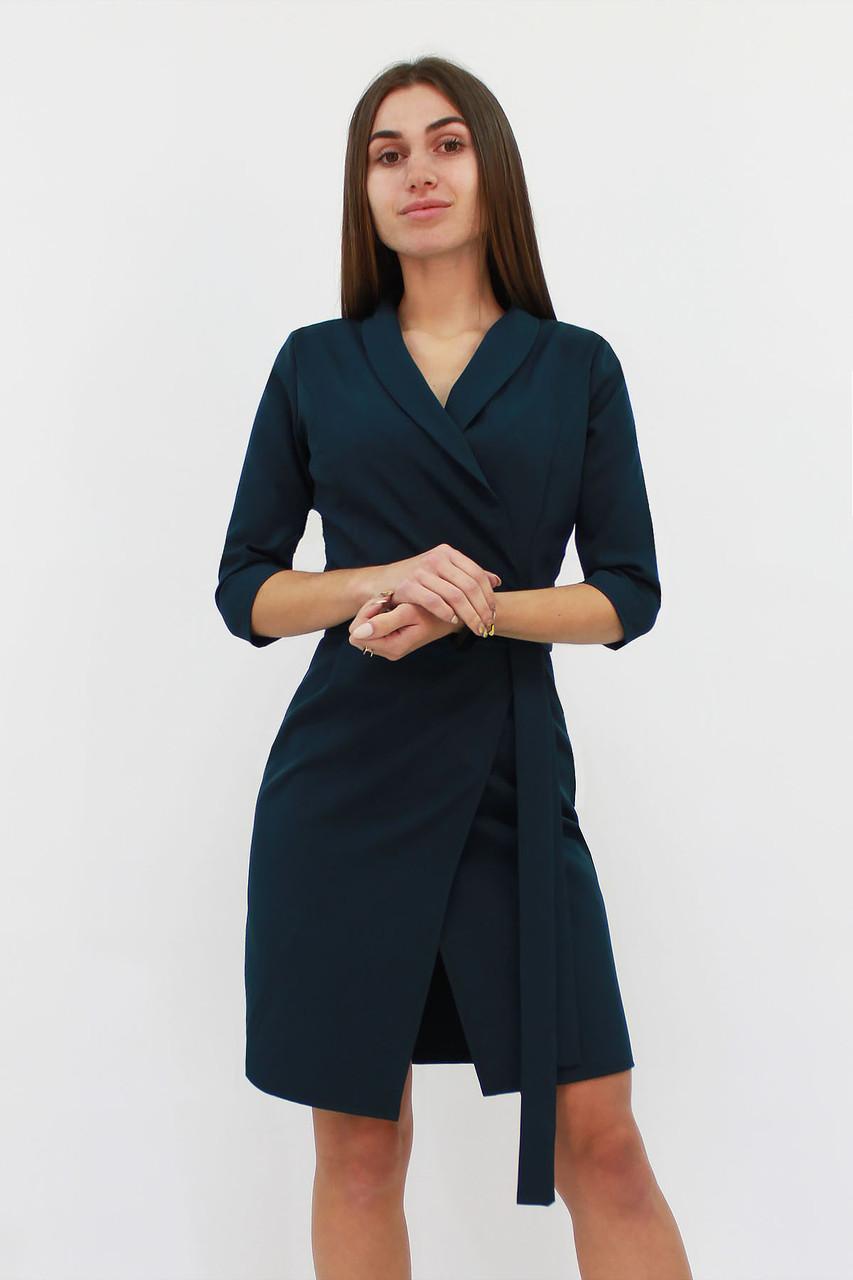 S, M, L   Коктейльне плаття на запах Alisa, темно-зелений