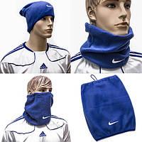 Флисовый горловик-шапка, маска гейтор Nike Найк синий